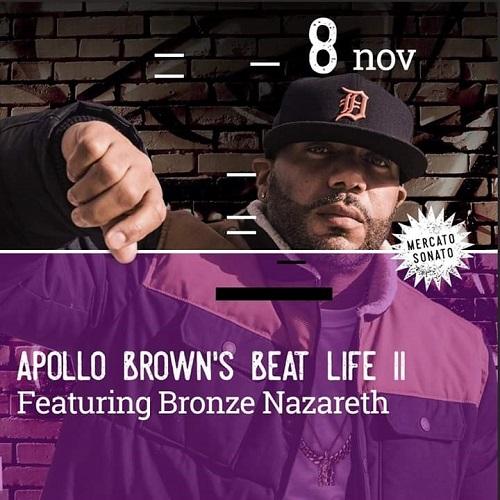 Apollo Brown e Bronze Nazareth live domani sul palco del Mercato Sonato (Bologna)