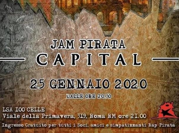 Jam Pirata Capital e' la grande jam romana di Rap Pirata
