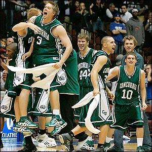 Eagles celebrating a quadruple overtime win