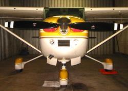 The McCauley C203 prop on my Skylane