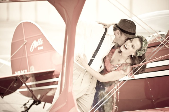 This was taken during a 1930's-era aviation-themed photo shoot at John Wayne Airport with my Pitts S-2B biplane