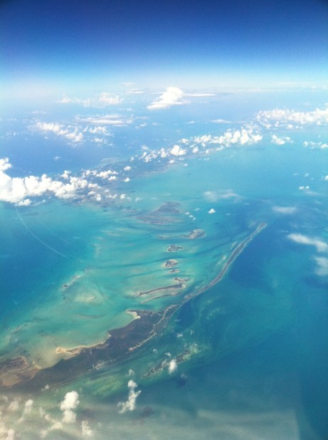 Thanks to the G-IV, I made my first trip to the Bahamas. Is that a beautiful shot or what? Taken on descent into Nassau.