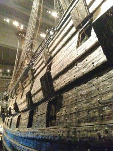 The Vasa sank because the King ordered a second gun deck added, which made it unstable and top heavy. It took on water through the lower gun ports when it listed in the breeze.