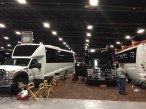 The Grech Motors display coming together at the 2013 LCT show at the MGM Grand.