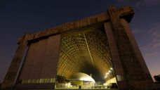 This hangar is 1,072 feet long and nearly 300 feet wide. It's also 192 feet tall!