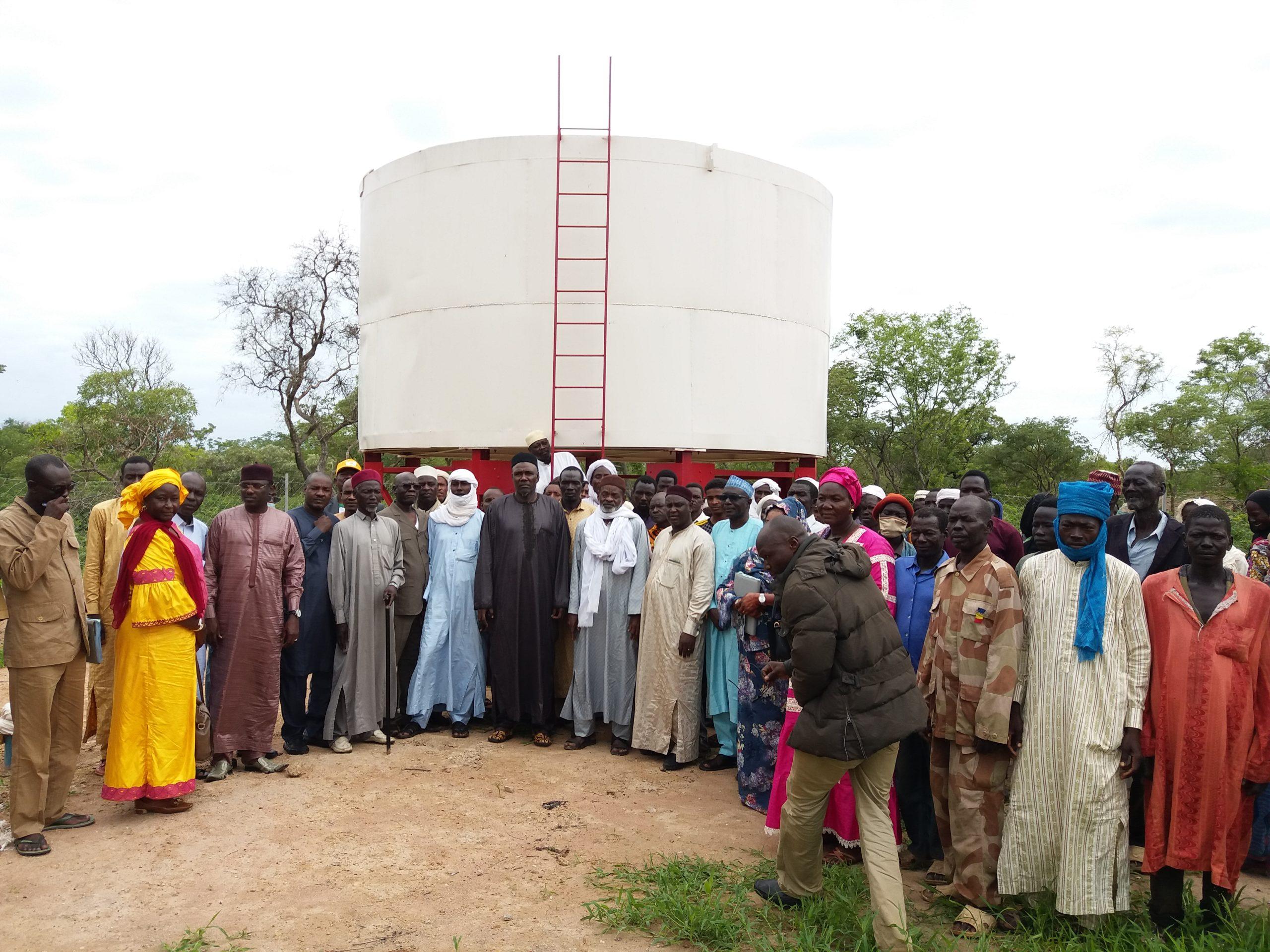 Visite de la station pastorale de Dildayo/Goundi par le Ministre de l'élevage et des productions animales Dr Abderahim Awat Atteib (08/07/2021) ouvrage réalisé par le PASTOR.