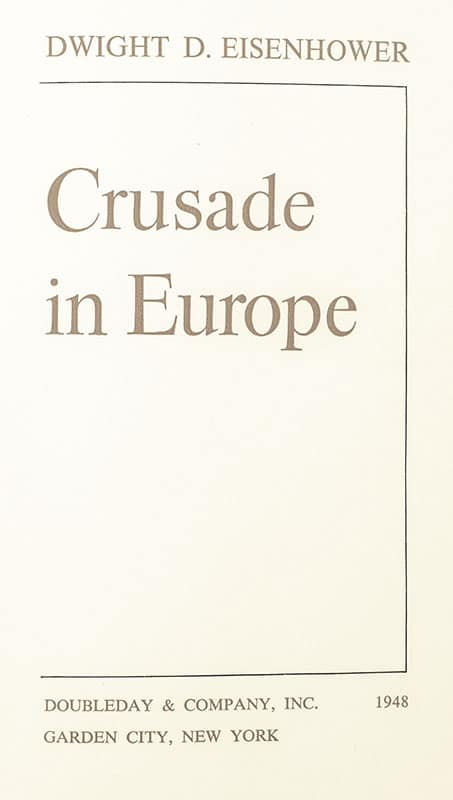 Crusade in Europe.