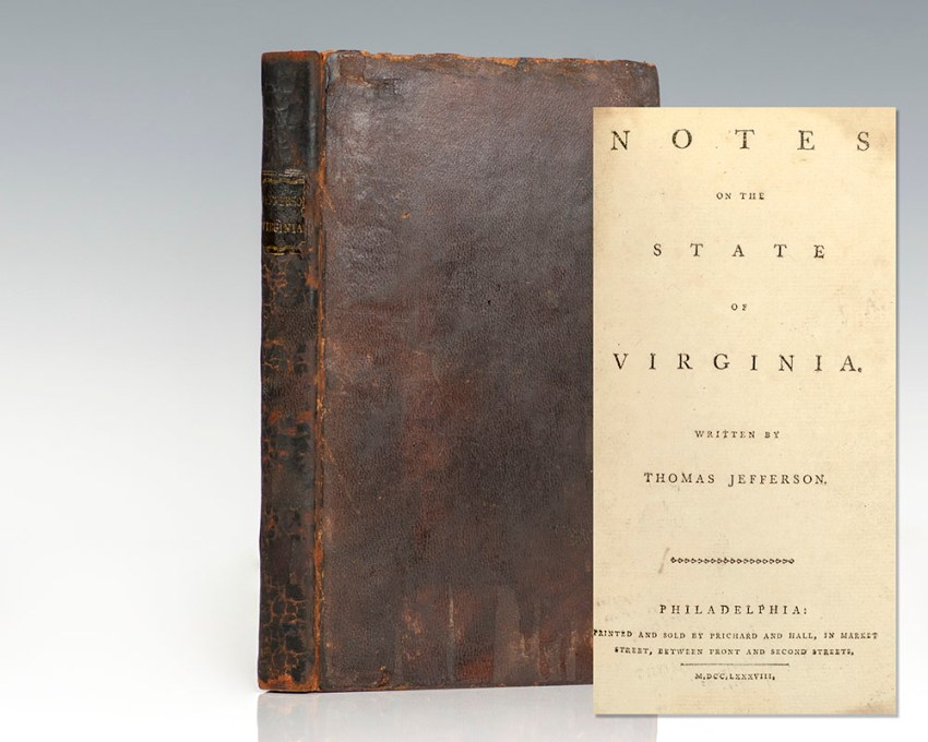 Notes of the State of Virginia.