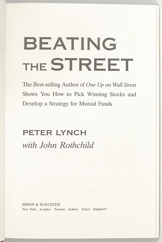 Beating the Street.