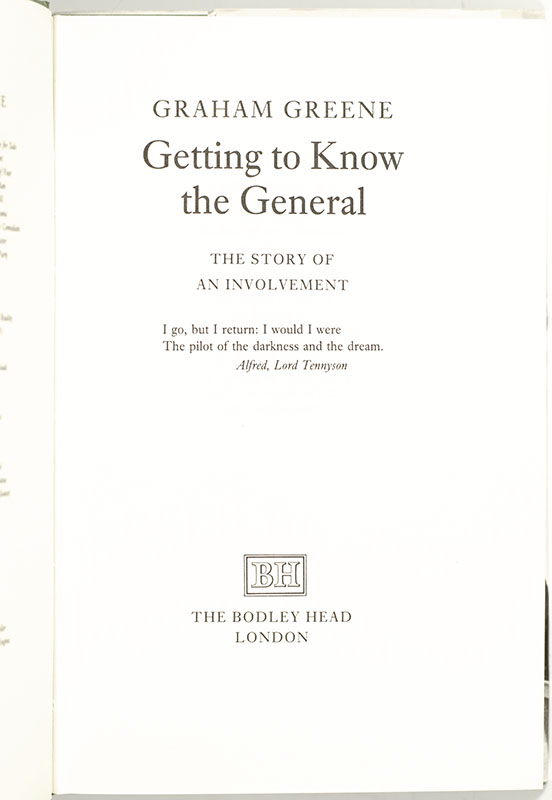 Getting To Know The General: The Story of Involvement.