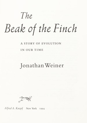 The Beak of the Finch: The Story of Evolution in Our Time.