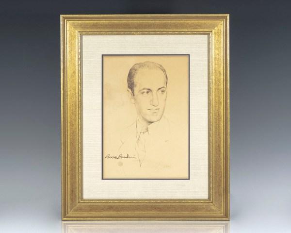 George Gershwin Signed Portrait.
