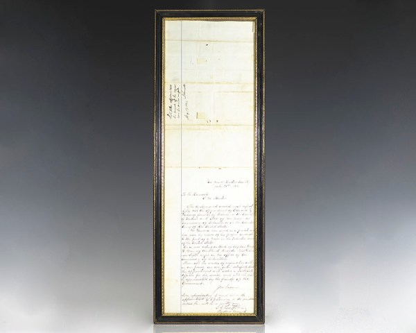 Abraham Lincoln Signed Military Endorsement.