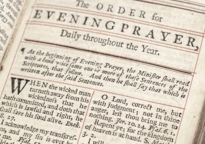 The Book of Common Prayer and The Book of Psalms.