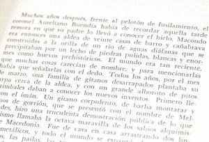 Cien Anos de Soledad [One Hundred Years of Solitude].