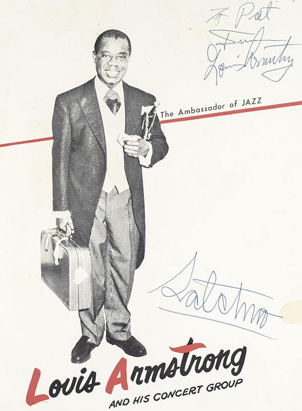 Louis Armstrong Autograph Signed Poster.