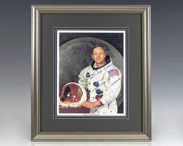 Neil Armstrong Signed Photograph.