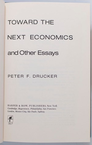 Toward The Next Economics and Other Essays.