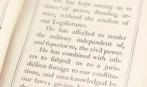 Declaration of Independence and Constitution of the United States.