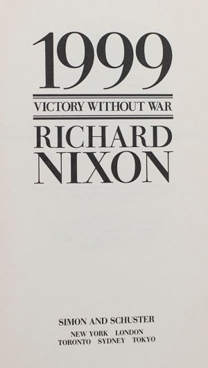 1999: Victory Without War.