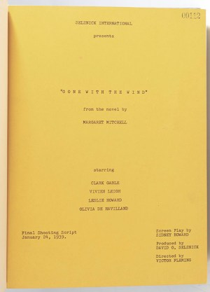 Gone With the Wind Signed Final Shooting Script.