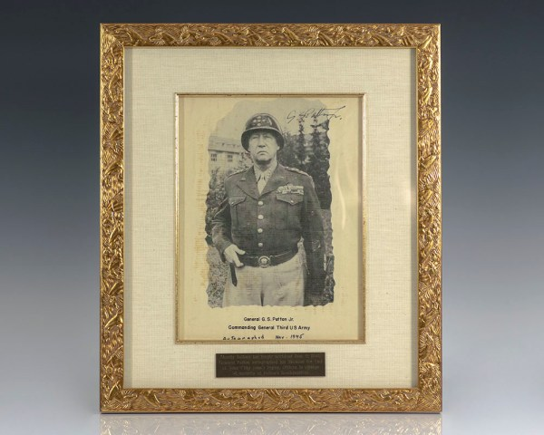 General George S. Patton Signed Photograph.