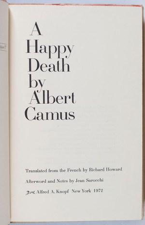 A Happy Death.