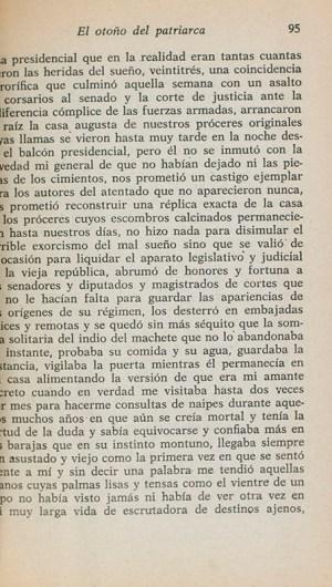 El Otono del Patriarca [The Autumn of the Patriarch].