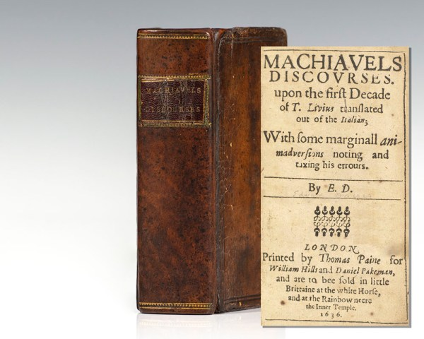 Machiavels Discovrses upon the First Decade of T. Livius translated out of the Italian. [Machiavelli's Discourses].