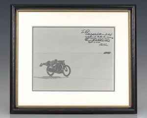 Rollie Free Signed Motorcycle Racing Photograph Collection.
