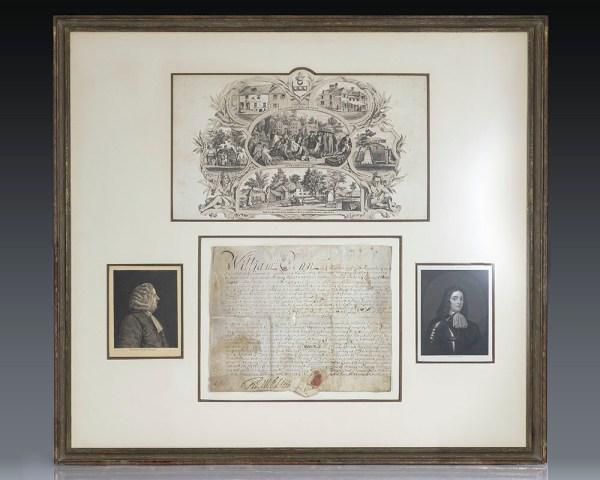 William Penn Signed Land Grant.