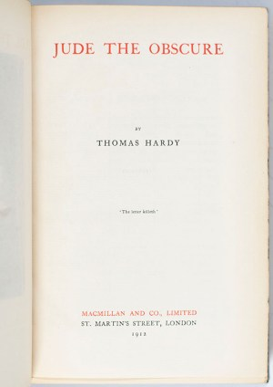 The Works of Thomas Hardy. [Including Far from the Madding Crowd; The Mayor of Casterbridge; Jude the Obscure; Tess of the D'Urbervilles; The Trumpet-Major; Two on a Tower; The Well-Beloved.]