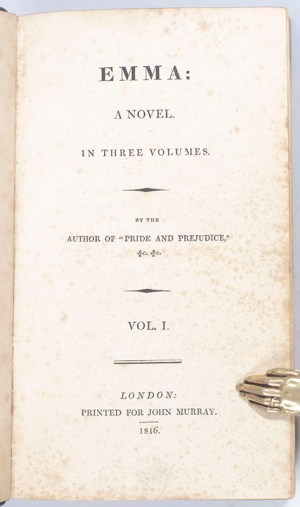"""Emma: A Novel. By the Author of """"Pride and Prejudice."""""""