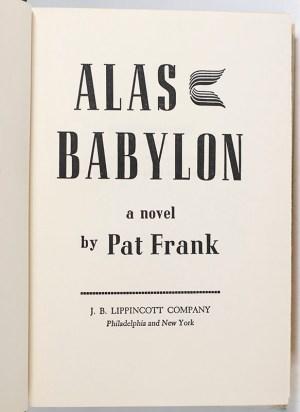 Alas, Babylon.