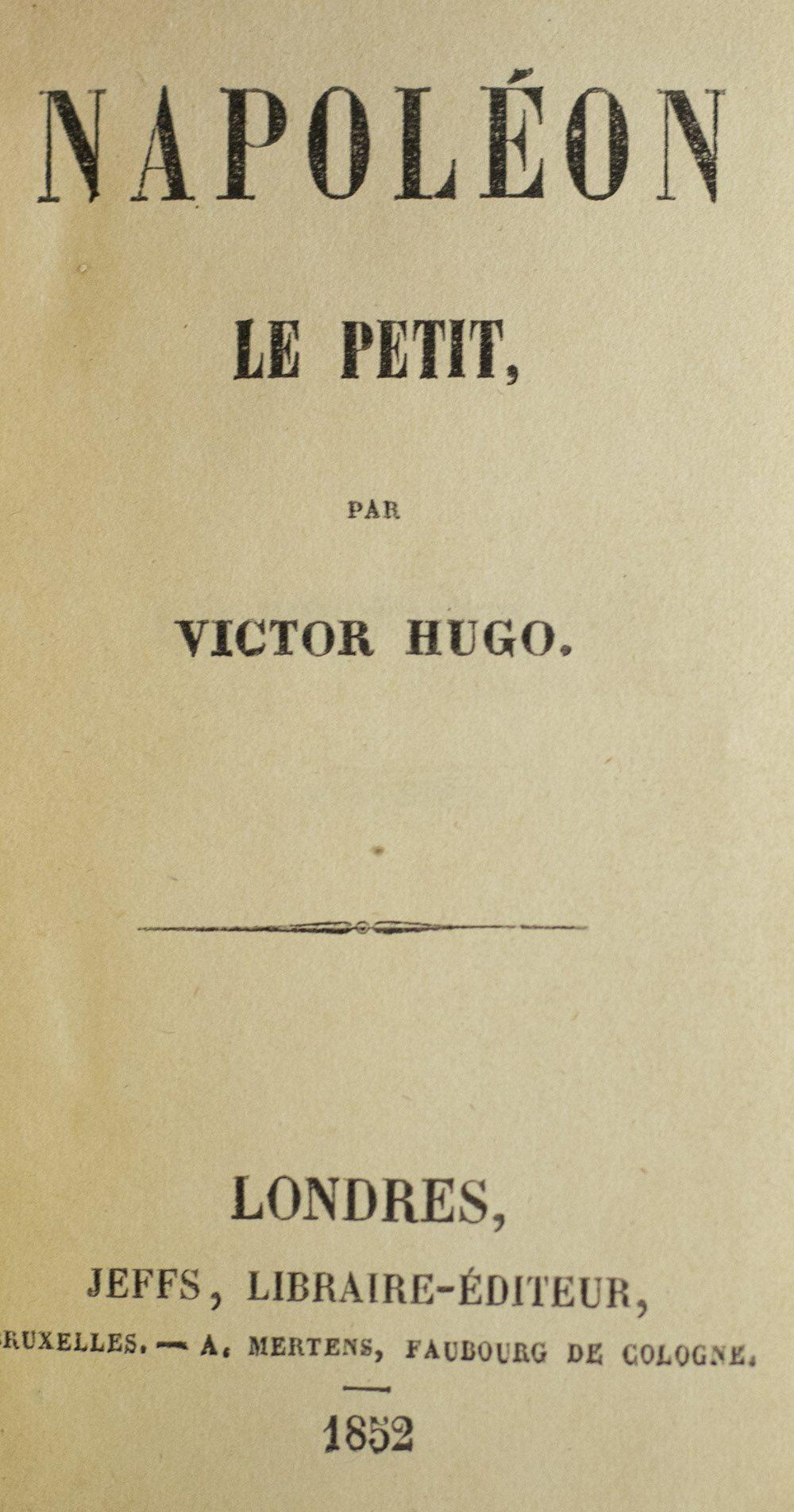Victor Hugo Napoléon Le Petit : victor, napoléon, petit, Napoleon, Petit.