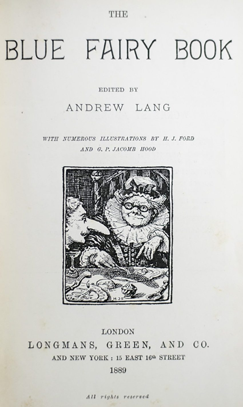 The Fairy Books: Blue (1889); Red (1890); Green (1892); Yellow (1894); Pink; (1897); Grey (1900); Violet (1901); Crimson (1903); Brown (1904); Orange (1906); Olive (1907); Lilac (1910) [with The Blue Poetry Book (1891); The True Story Book (1893); The Red True Story Book (1895); The Animal Story Book (1896); The Arabian Nights Entertainments (1898); The Red Book of Animal Stories (1899); The Book of Romance (1902); The Red Romance Book (1905)].