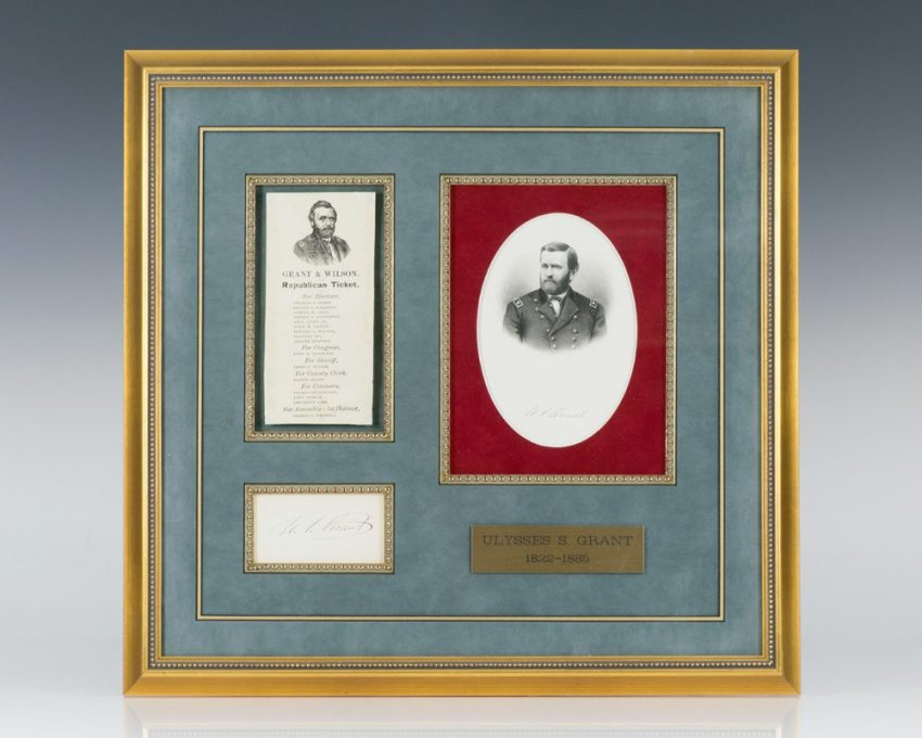 Ulysses S. Grant Autograph.
