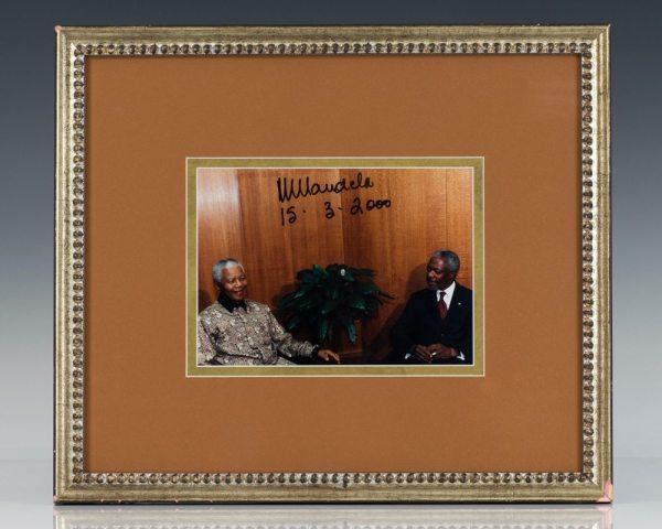 Nelson Mandela Signed Photograph.