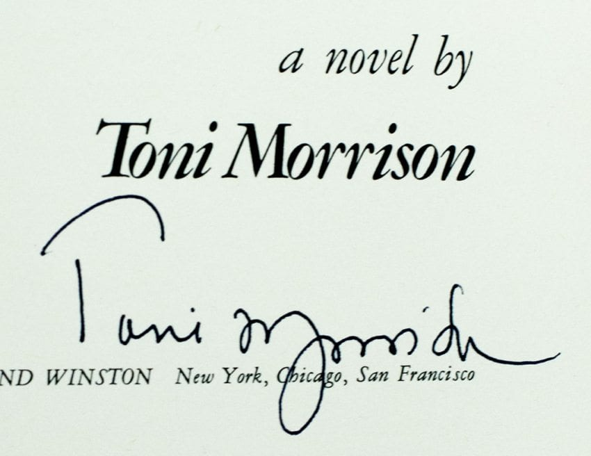 The Bluest Eye Toni Morrison First Edition Signed Rare Book