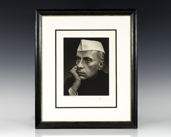 Jawaharlal Nehru and Yousuf Karsh Signed Photograph.