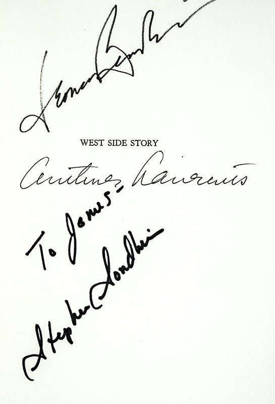 West Side Story First Edition Sondheim Signed
