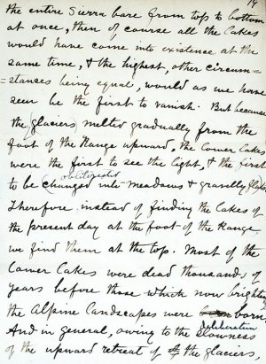 The Writings of John Muir: The Manuscript Edition.