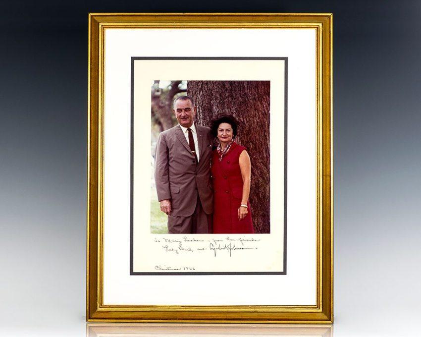 Signed Family Photograph of Lyndon B. Johnson.