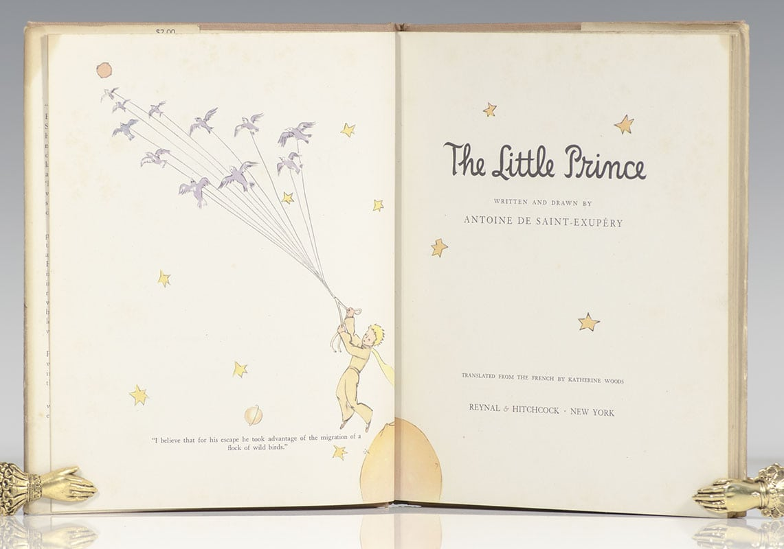 Little Prince New York the little prince antoine de saint-exupery first edition