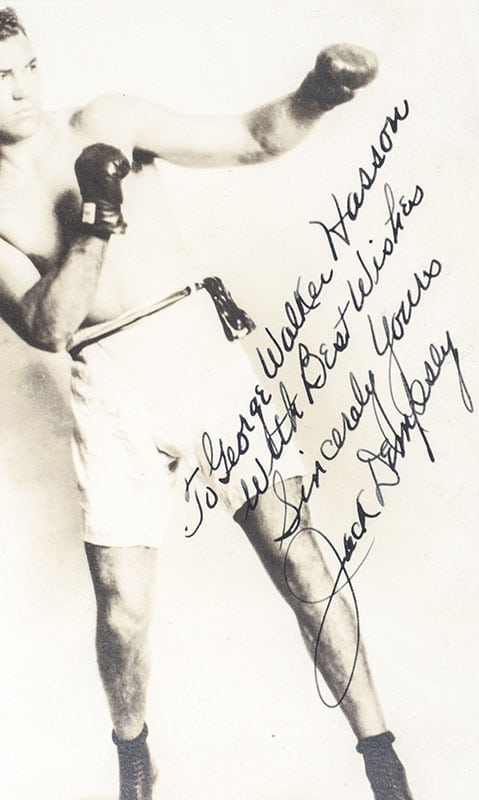 Jack Dempsey Signed Photograph.