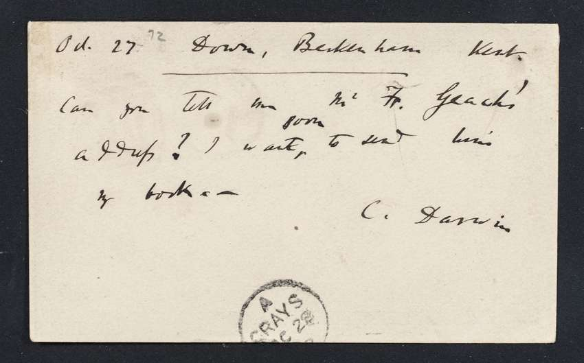 Charles Darwin Autograph Note Signed To Alfred Russel Wallace.