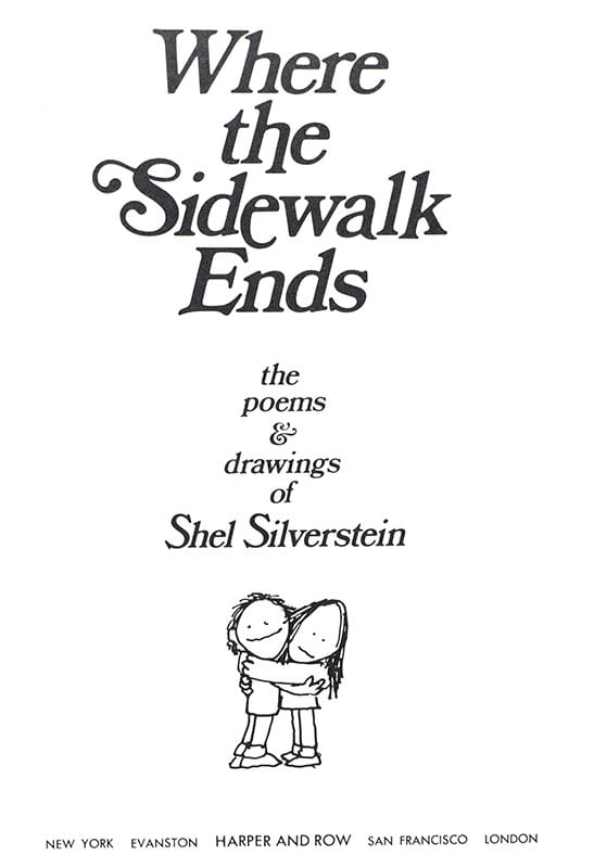Where the Sidewalk Ends Shel Silverstein First Edition Signed