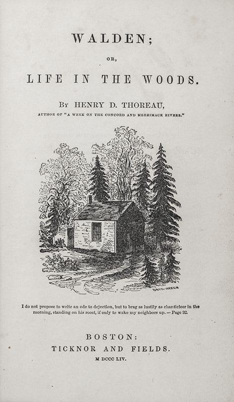 Walden Henry David Thoreau First Edition
