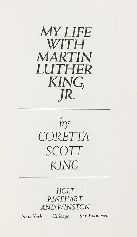 My Life with Martin Luther King Coretta Scott King First