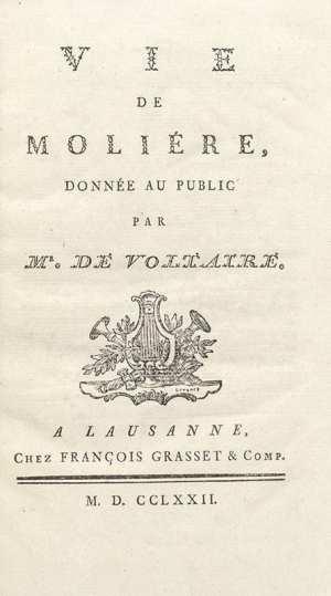 Vie de Moliere.